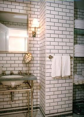 Best White Subway Tile Grey Grout Images On Pinterest White