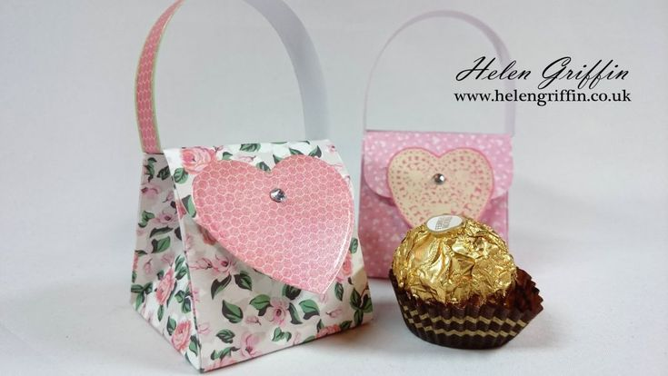 Today we are making a very cute gift for Valentine's Day – a mini handbag that holds 1 Ferrero Rocher! Perfect for giving to a loved one!