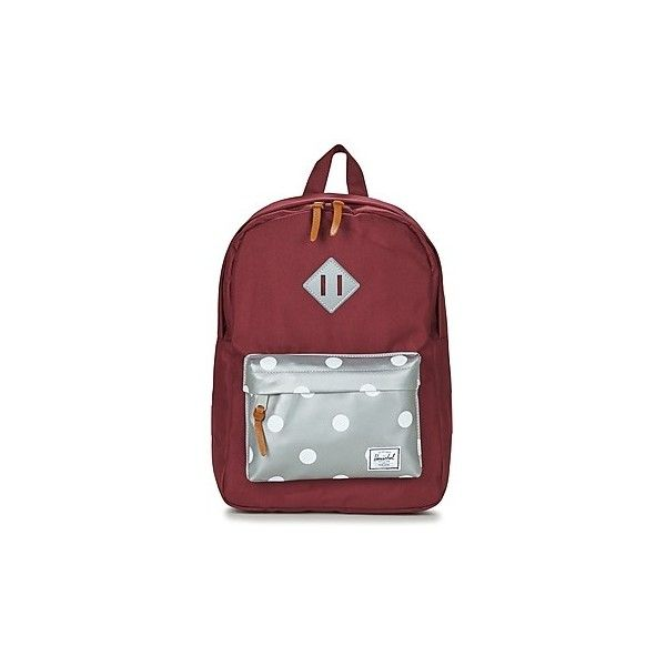 Herschel HERITAGE Backpack ($58) ❤ liked on Polyvore featuring bags, backpacks, red, red bag, knapsack bag, red backpack, travel backpack and day pack backpack