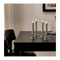 IKEA - STÖPEN, Bougie à LED, Cette bougie LED diffuse une lumière similaire à celle d'une vraie bougie. C'est une alternative sûre pour les familles avec enfant et peut aussi s'utiliser partout comme éclairage décoratif sans risque d'incendie.La source lumineuse à LED consomme près de 85% d'électricité en moins et dure 20 fois plus longtemps qu'une ampoule à incandescence.