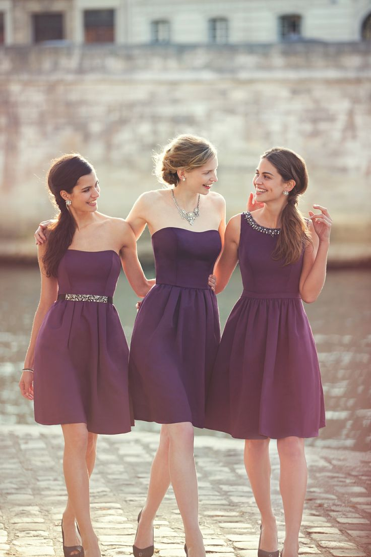 Our designers loved incorporating new fabrics and styles into our Fall 2014 collection. Mix and match to find the perfect combination for your bridal party. #davidsbridal #fall2014