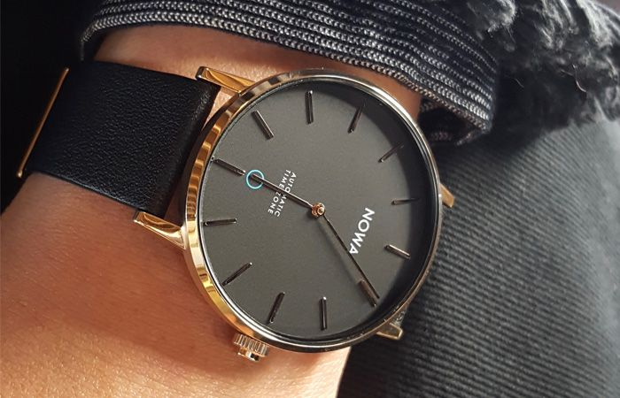 """The Sharper hybrid smartwatch is setting a new standard for """"slim"""", with a thickness of just 9.75mm. smartwatch, mensfashion, wristwatch"""