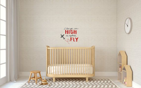 I Love You as High as Airplanes Fly: Wall Decal by LimeYours