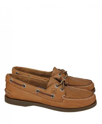 Sperry Womens Tan Sahara Leather Deck Shoe