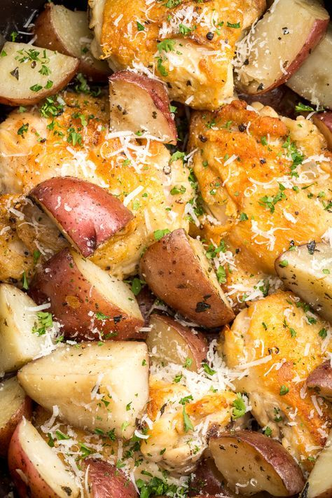 Try converting to IP: sear chicken first, then put in potatoes and top with chicken, follow standard chicken IP time, NPR.