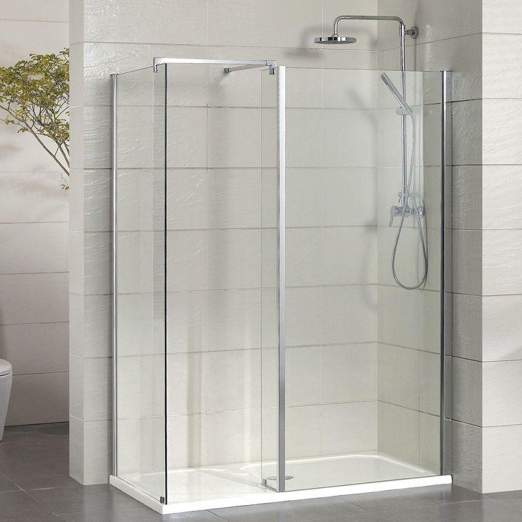 APRIL Prestige2 Frameless Inline Hinged Rectangular Shower Enclosure ...