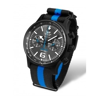 Colección Expedition North Pole: Reloj Vostok con estilo militar y deportivo con correa de nylon de rayas estilo NATO  http://www.tutunca.es/reloj-hombre-vostok-cuarzo-crono-nylon-azul-y-negro-north-pole