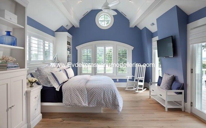 Mavi Ev Dekorasyon Modelleri