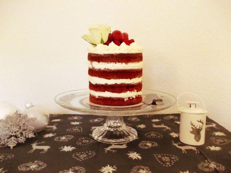 Chachou à la crème: Red velvet naked cake aux framboises