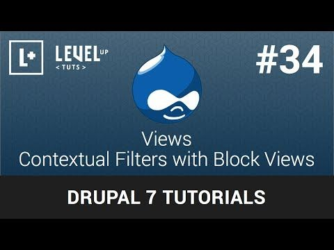Drupal Tutorials #34 Views - Contextual Filters with Block Views - YouTube