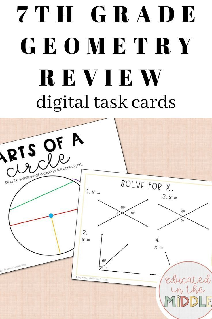 7th Grade Math Geometry Review Activity 7th Grade Math Geometry Review Math Geometry