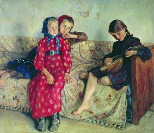 Country Friends - Nikolay Bogdanov-Belsky