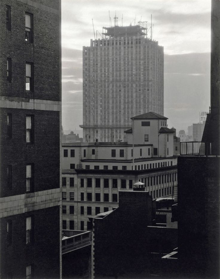 From My Window at An American Place, Southwest, (Radio City is under construction), Photo by Alfred Steiglitz, 1932