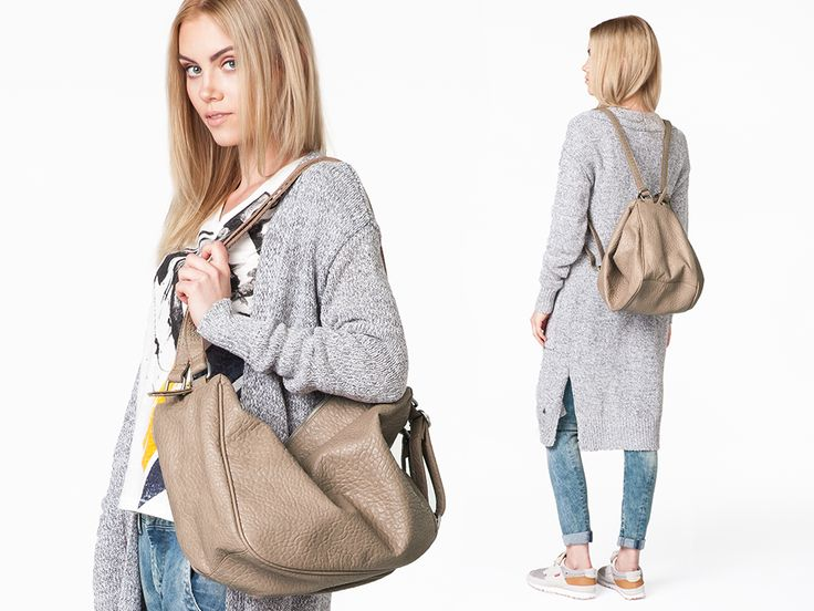 You don't need two various #bags to change your #style! Instantly turn your #classic chic #pepejeans #umeko #bag into #fashionable #backpack that goes with a #comfortable #casual #outfits. The bag is available in #black and #tan colour