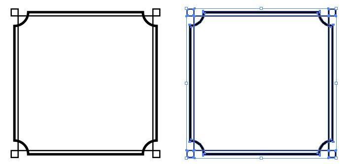 シンプルな四角のモノクロフレーム枠 無料配布 イラレ イラストレーター ベクトル パスデータ保管庫 Ai Eps ベクター素材 フレーム 枠 デザイン シンプル