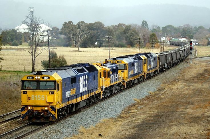Cootamundra - 8155-48144-8131-8154 head north. 10.55am. 22/6/11.