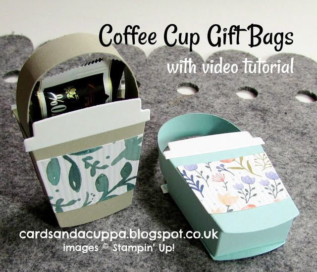 Coffee Cup Mini Gift Bag with Video Tutorial