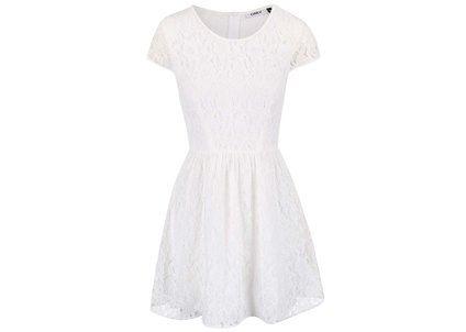 Krémové krajkové šaty ONLY Marun