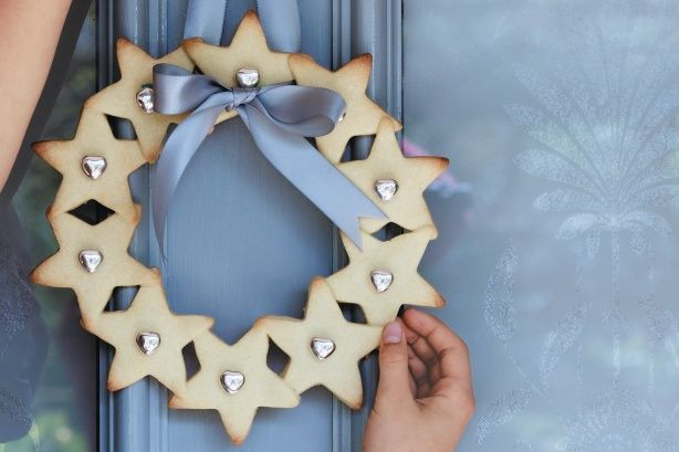 Your wreath will be the talk of the town this Christmas - as long as it doesn't get eaten before the big day!