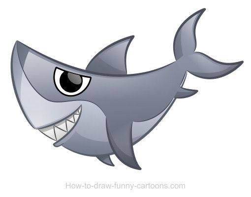 Sharks can be cute and fun to draw! Learn how to draw a nice cartoon character with nice shadows and cool effects!