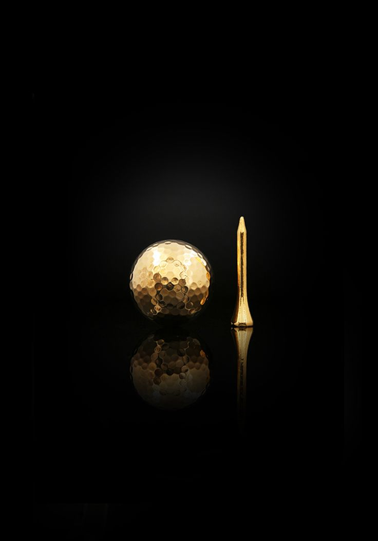 Golf Ball with Tee Introducing our ever expanding range of sports equipment and accessories.  Tee up in with grace and swing in style.  Have a look at our 24 karat gold golf balls and more.