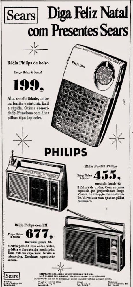 Anúncio rádio Philips - lojas Sears - 1976                                                                                                                                                      Mais