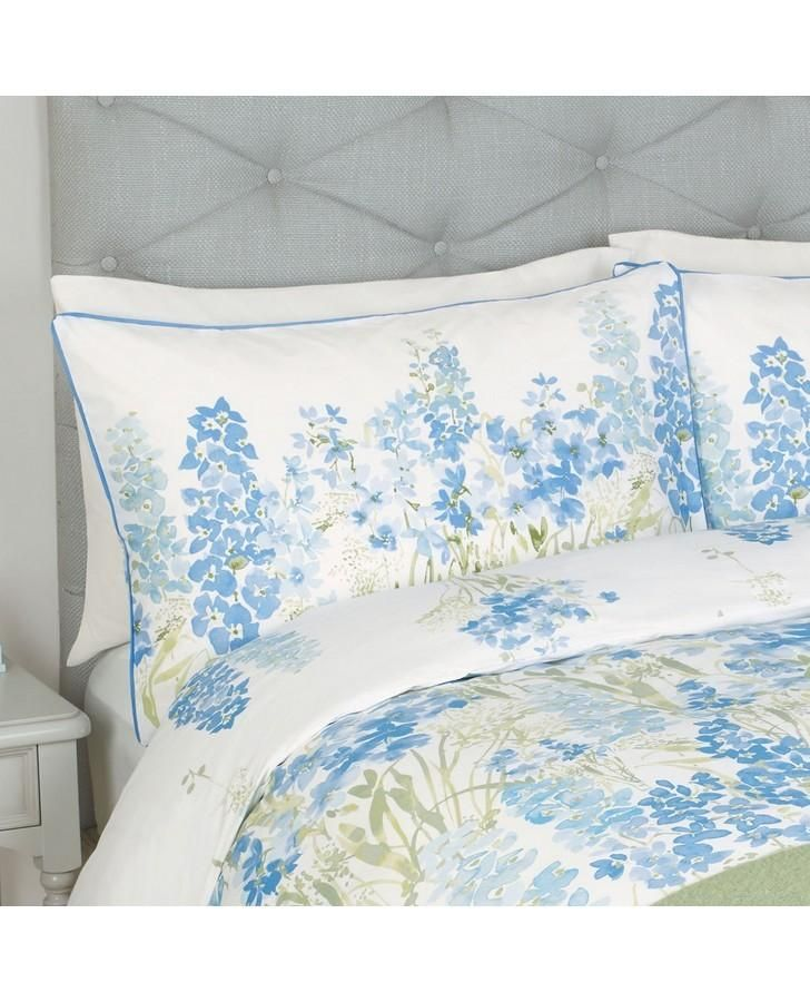 Blue Painterly Floral Pillowcase