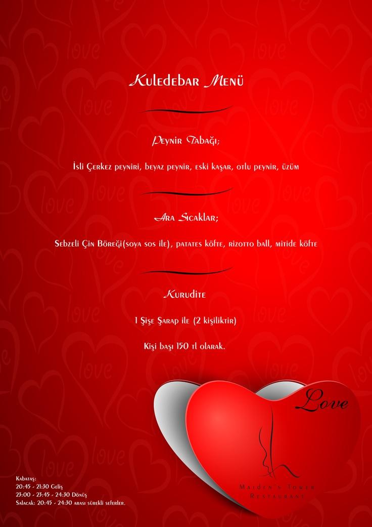 Kizkulesi'nde Sevgililer Günü Kuledebar Menu  Valentine's Day Kuledebar menu    #kizkulesi #maidenstower #sevgililergünü #valentinesday #istanbul #turkey  #travel #restaurants #tourism #love #aşk #winter #picoftheday #instagram #instamood #instagood