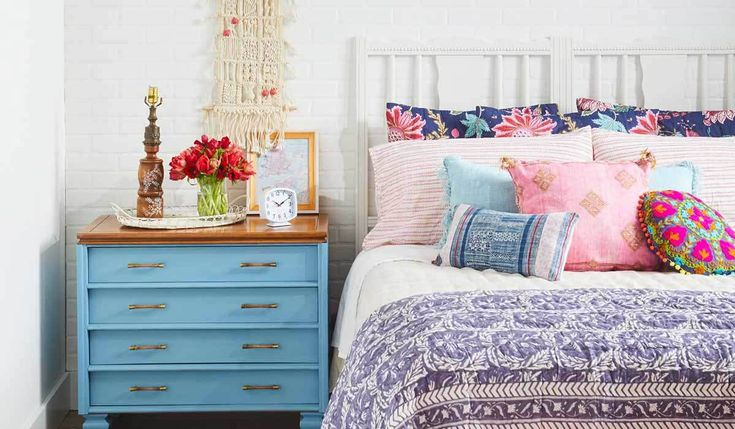 Bring the boho trend to your space with these bedding ideas to create the perfect gypsy-inspired room. #bedding #bedroom #homedesign