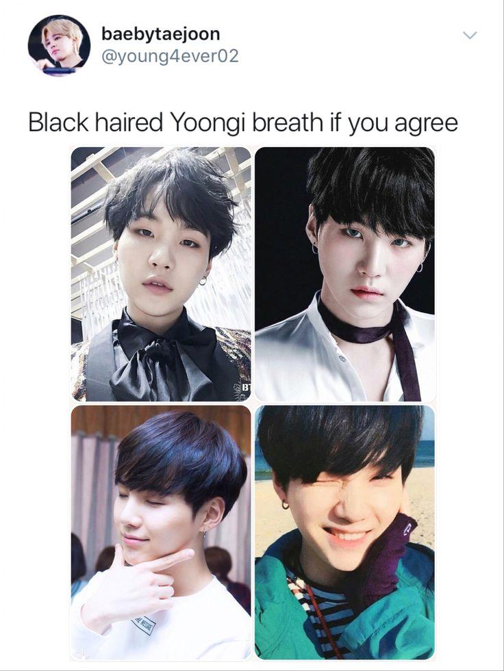 Bighit! We want black haired Bangtan!