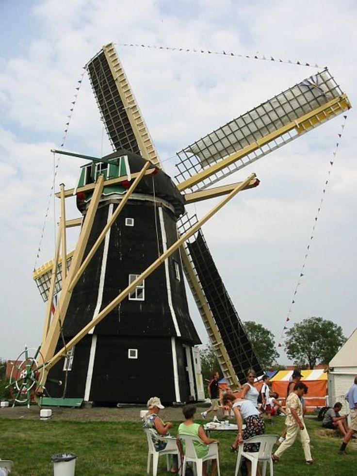 Ground sailor windmill in Aagtekerke, Zeeland, Netherlands.