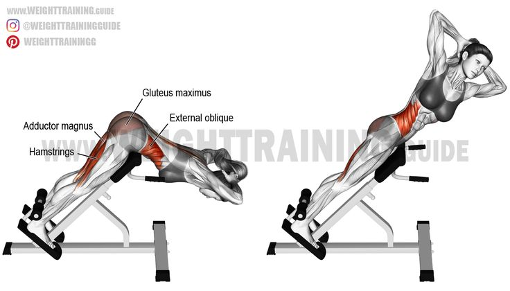 Twisting hip extension. An isolation exercise. Target muscles: Hamstrings, and Internal and External Obliques. Synergists: Gluteus Maximus and Adductor Magnus.