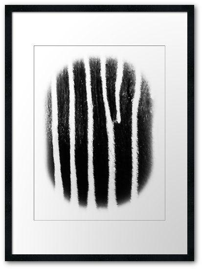 Zebra by Eric Nagel.  A piece of Africa for your white wall.  #Wandbilder #Wohnzimmer #Wohnideen #abstracts #contemporaryart #creative #artlovers #artnews #Home #Decor #Wandgestaltung #Kunst #meer #Art #Bild #wandbild #Galerie #Foto #digital #art #poster #interior #Design #dekoration #EricNagel #redbubble
