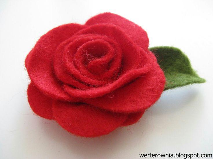 #Werterownia #diy #handmade #filc #róża
