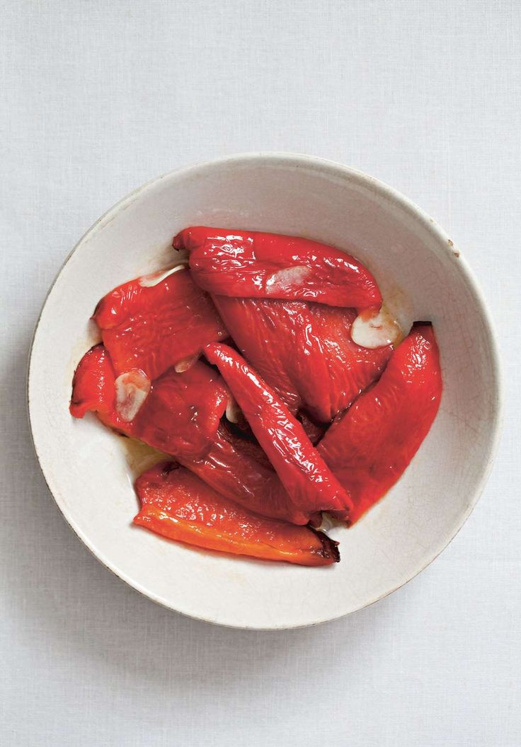Smoky red peppers with garlic by Rebecca Seal | Cooked