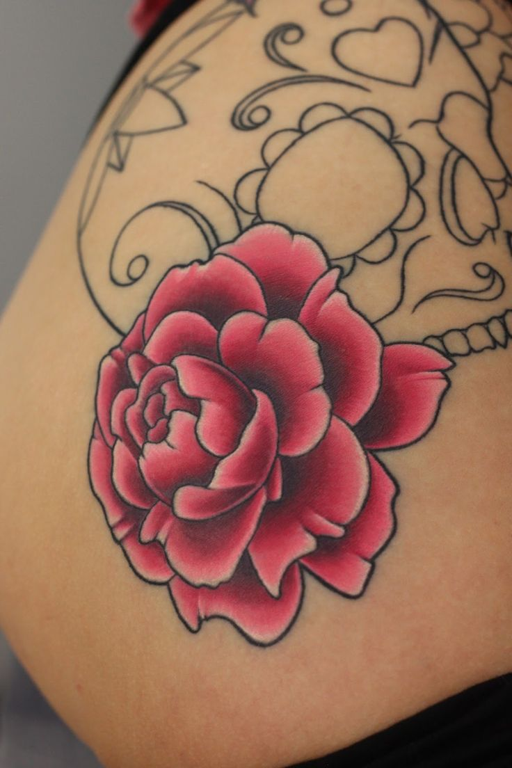 peonies flowers tattoo | Peony Flower Tattoos – Designs and Ideas