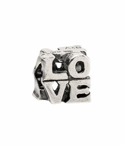 Amore& Baci LOVE silver bead