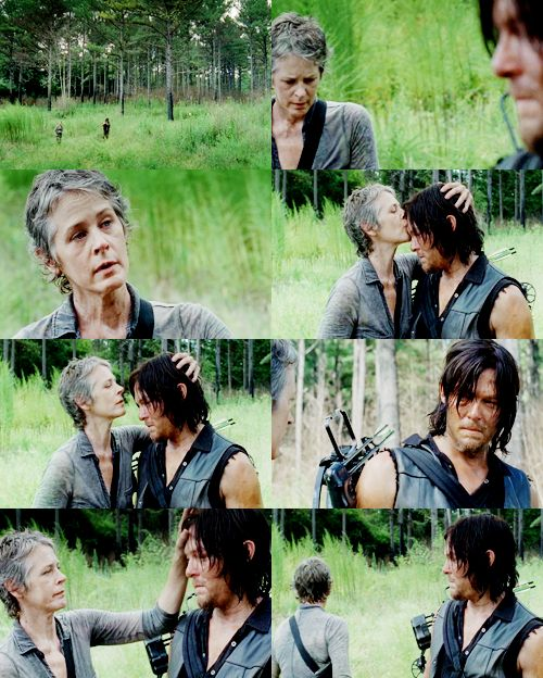 """""""We're not dead. That's what you said. You're not dead. I know you. We're different. I can't let myself- But you, I know you. You have to let yourself feel it. You will."""" Carol & Daryl"""