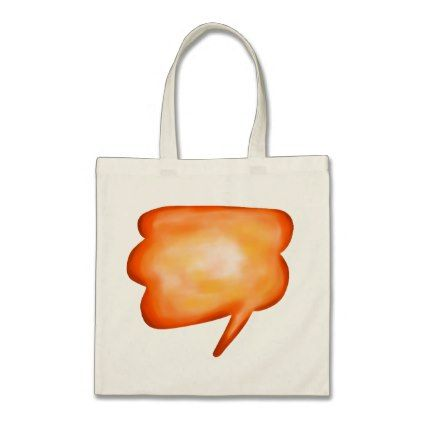 Orange Watercolour Cartoon Speech Balloon Tote Bag - individual customized unique ideas designs custom gift ideas