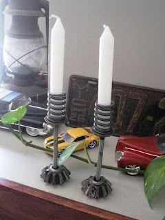 flint handmade: Upcycling Love: Spare Metal Car Parts into Home Decor!