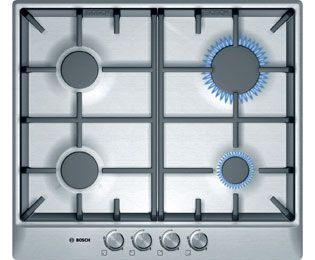 Bosch Classixx PCP615B90B Built In Gas Hob - Brushed Steel