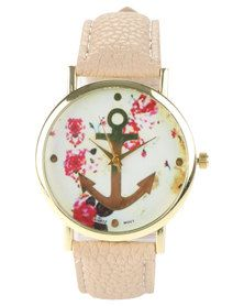 The Ramp Floral Anchor Watch Natural