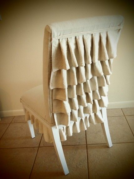 Ruffle Back Chair Redo