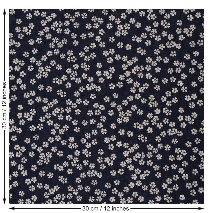 Sevenberry Small Flower Fabric. Indigo.