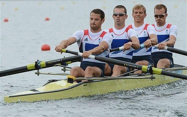 Team GB men's lightweight four win silver