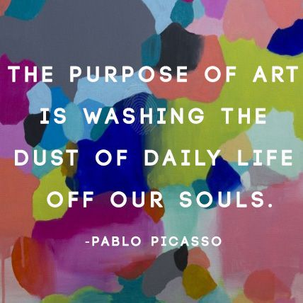 Wise words from Picasso. Artwork: Like a diamond in the sky by Ruchi Rai http://www.bluethumb.com.au/ruchi-rai/Artwork/Like-a-diamond-in-the-sky #picasso #quoteoftheday #quote #wisdom #painting #design #interiordesign
