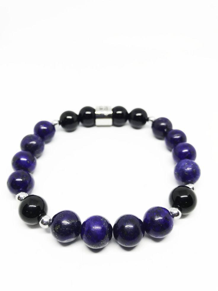 Protection and Manifestation Lapis Lazuli, Black Agate and Hematite Bracelet