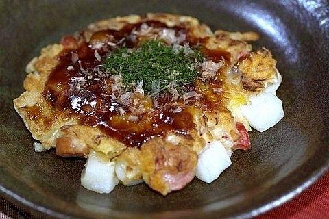 とろーりもち入りお好み焼き by 三島食品
