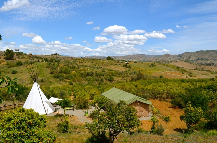 Logeren in tipi Verde of safaritent Amarillo en wakker worden met dit uitzicht. Ook dat is verwennerij!