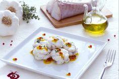Rana pescatrice in salsa allo zafferano e limone